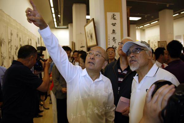 依旧潇洒——王铁成书画展在中国美术馆开幕式